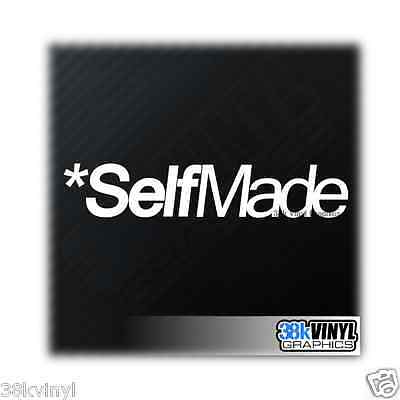 SELF MADE Funny Novelty Car/Window/Bumper JDM Drift DUB Lowered Decal Sticker