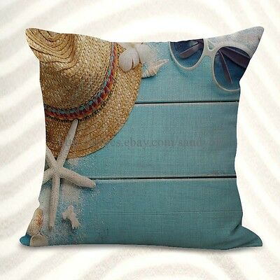 US Seller-starfish seaside cushion cover accessories for house - Seaside Decorating Accessories