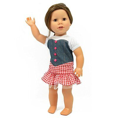 Cowgirl Doll Outfit For American Girl Dolls - Cowgirl Country Girl Dress