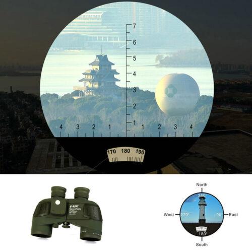 SVBONY 7x50 Armeegrün Militär-Fernglas Wasserdicht mit Entfernungsmesser Kompass