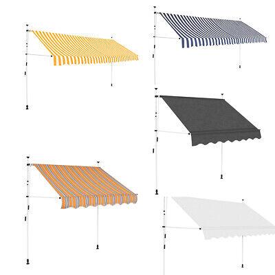 Markise Einziehbar Manuell Klemmmarkise Sonnenschutz für Terrasse mit Gelenkarm