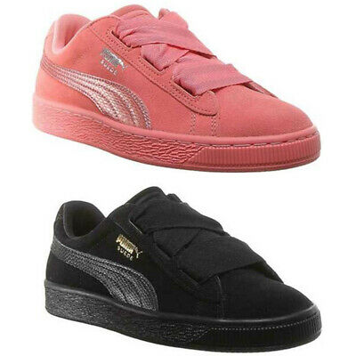 Puma Suede Heart Junior Youth Suede Trainers Colour Size UK 3 - 7