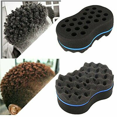 Men Double Wave Hair Sponge Afro Curly Brush Sponge Hairdressing Tools