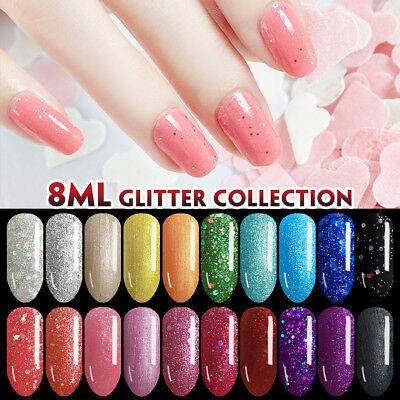 Lavender Violets 8ml Diamond Glitter Collection Soak Off UV LED Gel Nail Polish](Glitter Gel)