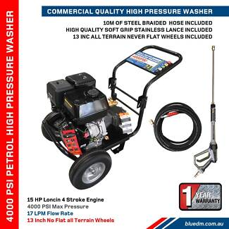 Petrol Pressure Washer 4000 PSI 13HP - Loncin Engine - Patio *NEW Kewdale Belmont Area Preview