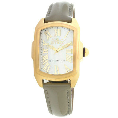 Invicta 20457 Lady's Interchangeable Leather Strap MOP Dial Watch