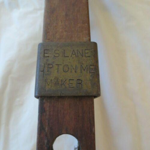ANTIQUE E.S. LANE-UPTON ME MAKER WOOD SURVEYOR