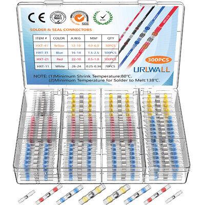 300x 31 Solder Seal Heat Shrink Butt Wire Terminal Connectors Splice Waterproof
