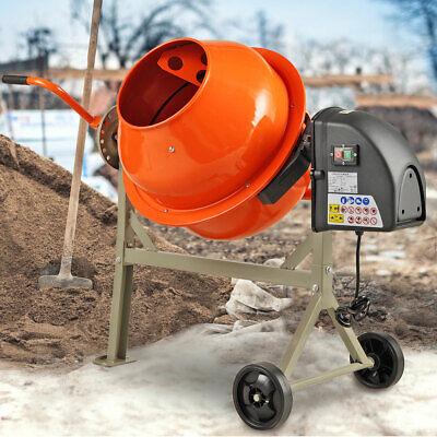 2-15cuft Electric Concrete Mortar Cement Stucco Mixer Portable Vertical Drum