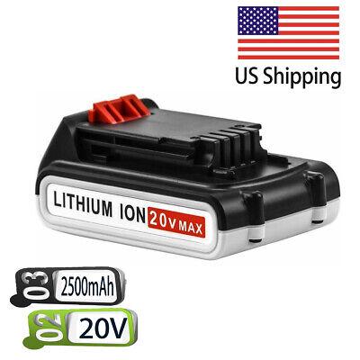 For Black&Decker 20V Max Lithium Battery 2.5Ah LBXR20 LBX20 LBXR2020-OPE - Black & Decker Rechargeable Battery