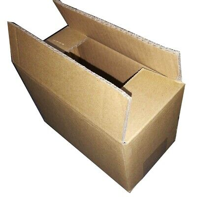 6 pcs Corrugated Cardboard Shipping Mailing Packing Moving Boxes Carton 7x4x3