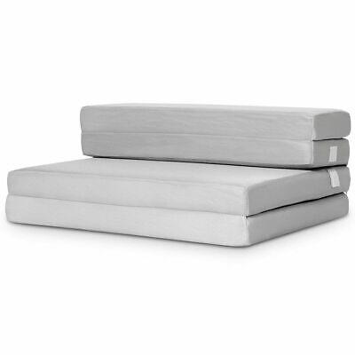"4"" Twin XL Size Foam Folding Mattress Sofa Bed Guests Floor"