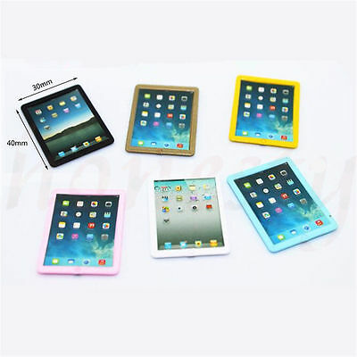 Dollhouse Miniature Mini Look Tablet Computer Pad Decoration Gift  Color Random