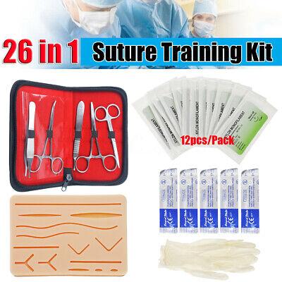 Medical Suture Practice Kit Silicone Suturing Pad Human Skin Training
