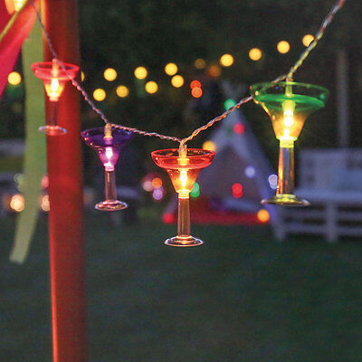 Battery Power Cocktail LED Fairy Lights with 6hr Timer | Margarita Party Martini (Led Margarita Glasses)