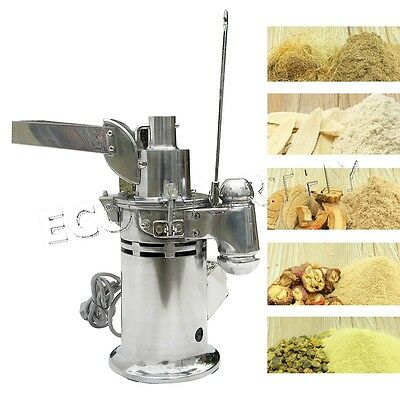 110v Automatic Feeding Herb Mill Grinder Pulverizer Hammer Lab Medical
