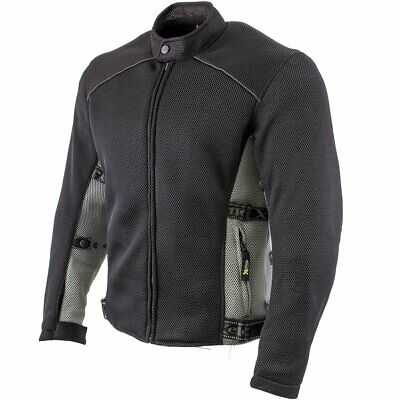 Xelement Mens CF-505 Mesh Level-3 Padded Armored Sport Motorcycle Jacket
