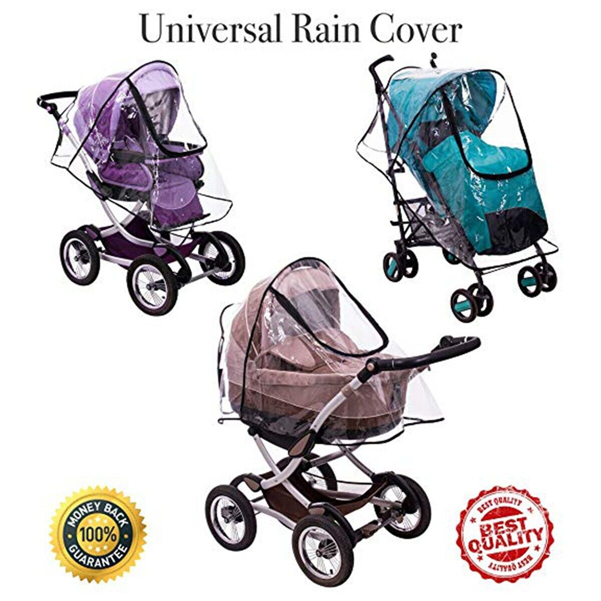 Stroller Rain Cover Baby Mosquito Waterproof Windproof Prote