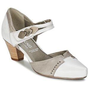 chaussure dorking ref 6222 loli blanc et taupe du 37 au 41