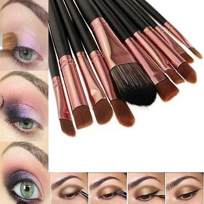 20pc Powder Foundation Eyeshadow Eyeliner Professional Makeup BRUSHES Kit Set