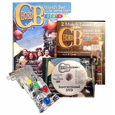 CHORD BUDDY Guitar Learning System Teaching Practrice Aid + DVD Book Lessons on Rummage