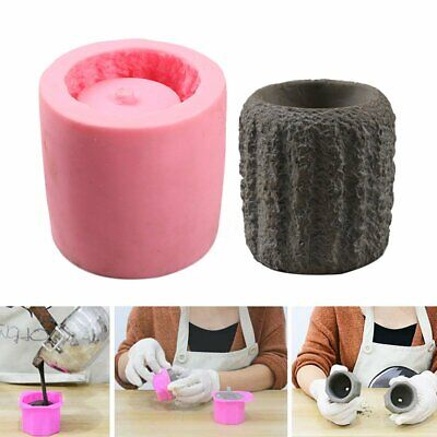 Silicone Concrete DIY Mold Succulent Garden Planter Flower Pot Cement Vase Candle Making & Soap Making