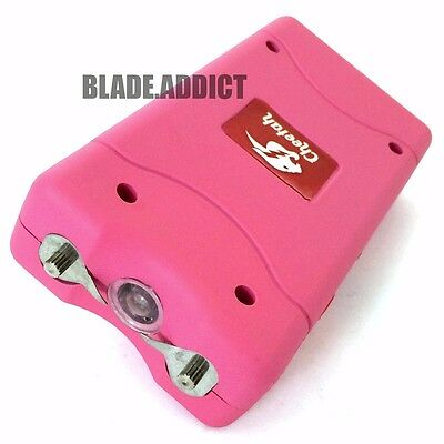 LADIES PINK 60 Million Volt Stun Gun Rechargeable w LED flashlight  + Taser Case
