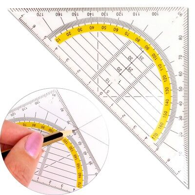 14cm SET SQUARE Geometry Technical Drawing School/Office Drafting/Crafts Ruler
