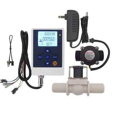 Water Flow Control Lcd Displayg34 Flow Sensor Meterg34 Solenoid Valve Nc