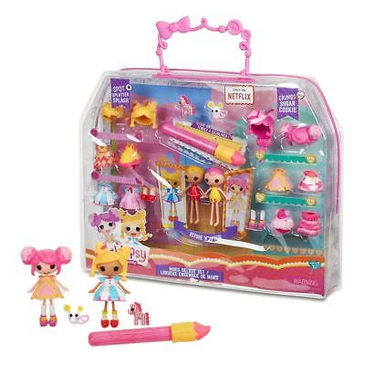 New Lalaloopsy Minis Deluxe Set Spot Splatter & Crumbs Sugar Cookie Official ()