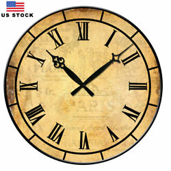15 Large Wall Clock Home Decor Retro Vintage European Style Time Day
