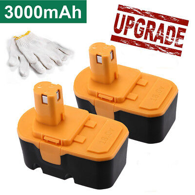 2pcs 18v 3.0ah Replacement Battery For Ryobi One+ P100 P1...