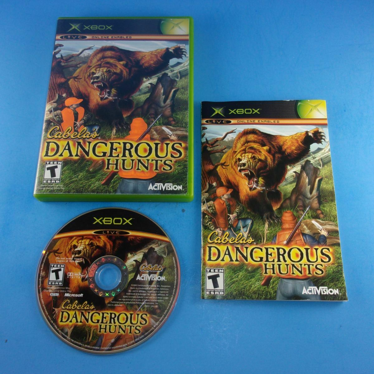 Cabela's Dangerous Hunts - Xbox - Complete In Box - Cleaned/Tested - Free Ship