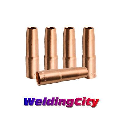 Weldingcity 5-pk Mig Welding Gun Nozzle 22-50 12 For Tweco Lincoln 200a-400a