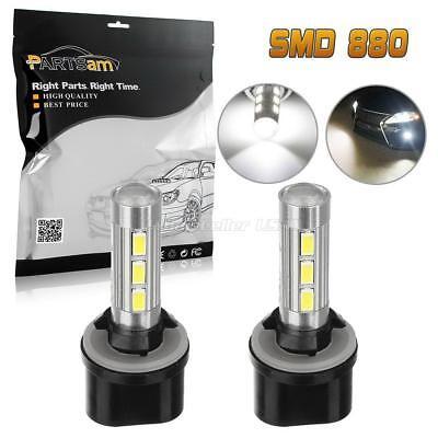 2pcs 880 892 893 899 6000K White 14-5730-SMD LED Bulbs Fog Light Driving Lamp