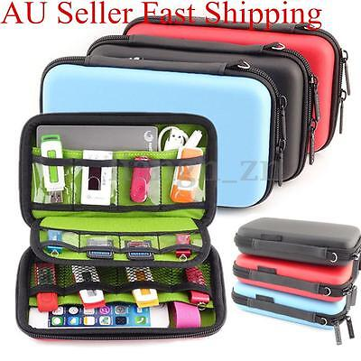 Waterproof Electronic Accessories USB Cable Bag Organizer Case Drive Travel