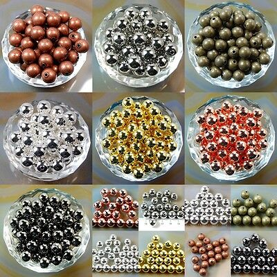 Wholesale Smooth Round Metal Copper Spacer Beads 2.4mm 3mm 4mm 5mm 6mm 8mm 10mm (Metallic Beads)