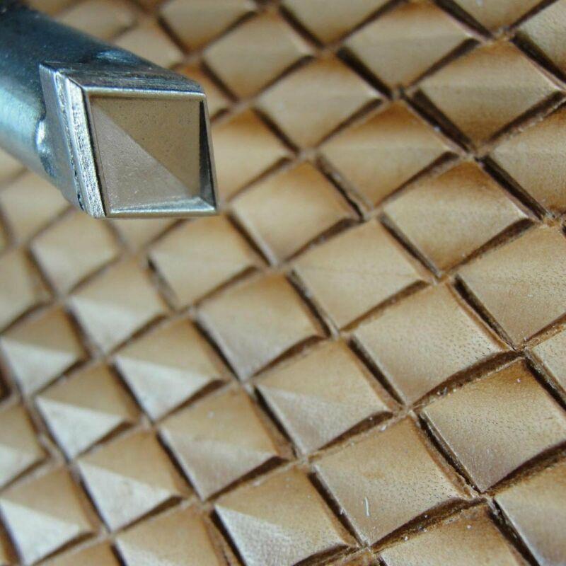 James Linnell - Large Ridged Diamond Geometric Stamp (Leather Stamping Tool)