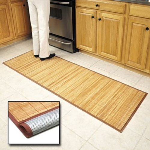Details about Bamboo Floor Mat Kitchen And Bathroom Rug Runner Spa Hallway  Non-slip Wood