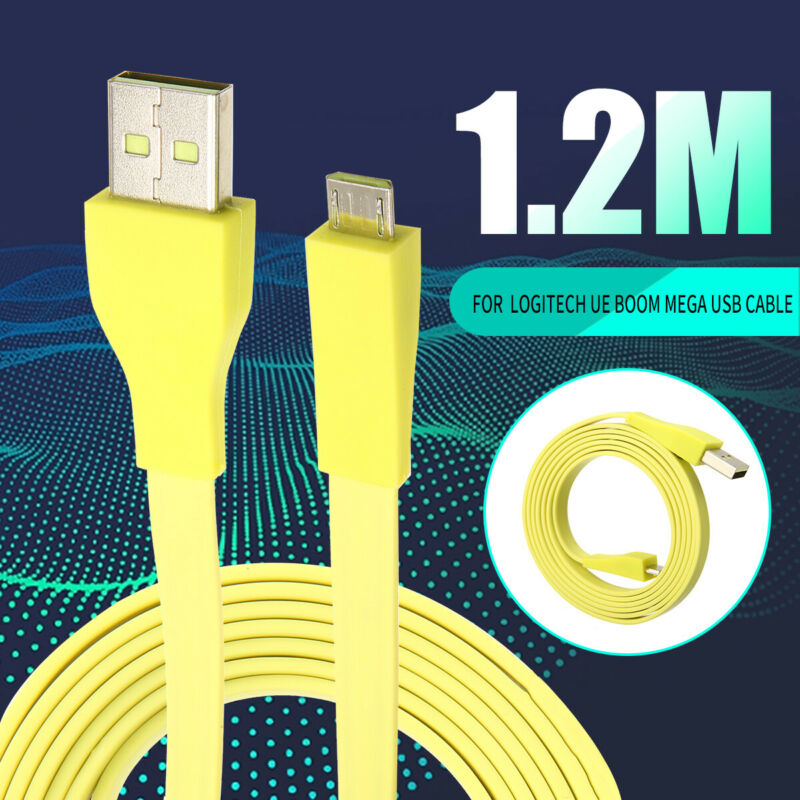 Micro USB PC Charger Data Cable For Logitech UE BOOM MEGA bl