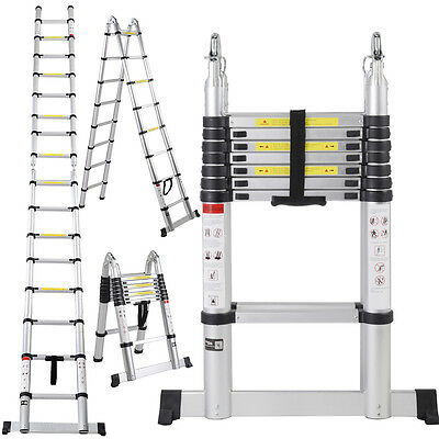 EN131 16.5FT Aluminum Telescoping Telescopic Extension Ladder Tall Multi Purpose for sale  Shipping to South Africa