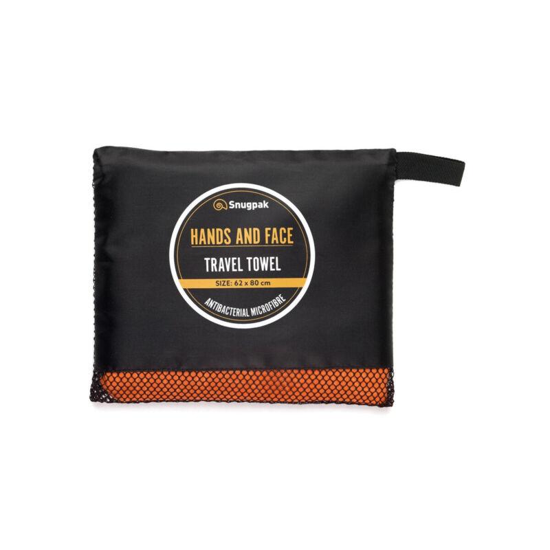 Snugpak Travel Towel Hands and Face Orange 8211653148304