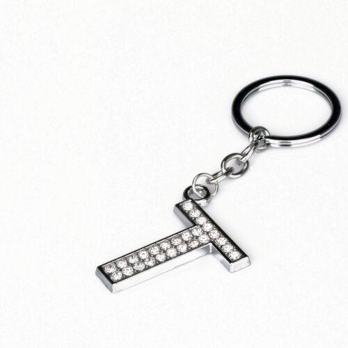 Купить Shiny Crystal Alphabet Keyring A-Z Initials Letter Key Ring Silver Key Chain