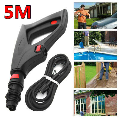 5m Hose Pressure Washer Lance Spray Trigger Gun Variable Nozzle For Lavor Vax Bs