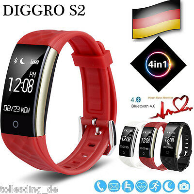 Bluetooth Sport Smart Armband Handy Pulsuhr Schrittzähler AktivitätsTracker IP67
