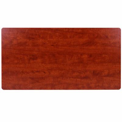 Rectangular Sit To Stand Tabletop Laminate Top Executive Office Desktop Cherry
