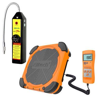Elitech Wjl-6000 Refrigerant Leak Detector Freon Lmc-200 Charging Scale Hvac Ac