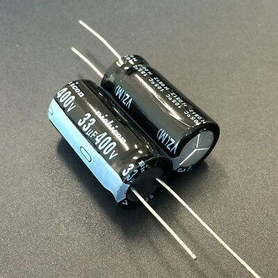 50pcs 33uf 400v 16x31.5mm Nichicon Vz Wide Temperature Range Capacitor