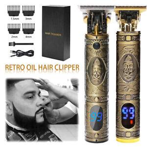 Metal Zero Gapped Hair Clippers Electric Trimer Mens Beard Shaving Machine M2764