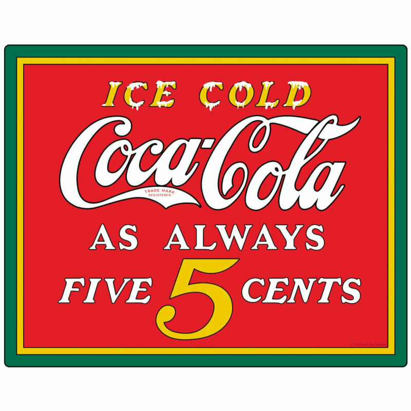 Coca-Cola Ice Cold 5 Cents Decal Peel & Stick Wall Graphic